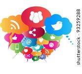 social network symbols in... | Shutterstock .eps vector #93259288