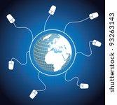 global communication vector | Shutterstock .eps vector #93263143