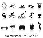 triathlon sport icon | Shutterstock .eps vector #93264547