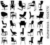 modern chair vector 2 | Shutterstock .eps vector #9326770