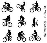 bicycle vector 4 | Shutterstock .eps vector #9326773