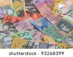 australian currency background | Shutterstock . vector #93268399