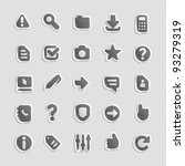 sticker button set. icons for... | Shutterstock .eps vector #93279319