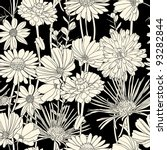 floral seamless pattern with... | Shutterstock .eps vector #93282844
