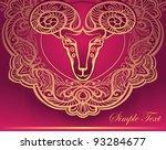 golden ram. horoscope.... | Shutterstock .eps vector #93284677