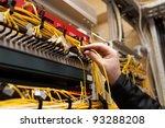 the technician attaching fiber...   Shutterstock . vector #93288208