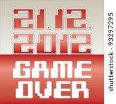 2012 date of apocalypse  game... | Shutterstock .eps vector #93297295