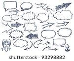hand drawn arrows and speech... | Shutterstock .eps vector #93298882