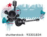 Music Grunge Poster With...
