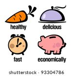 icons with information for... | Shutterstock .eps vector #93304786