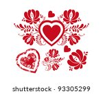 red heart for valentine's day | Shutterstock .eps vector #93305299