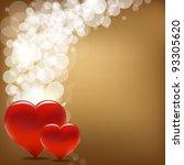 vintage valentine background... | Shutterstock .eps vector #93305620