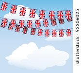 Union Jack Bunting On Cloud...