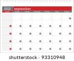 september 2012 planning calendar
