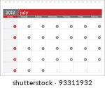 july 2012 planning calendar