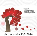 day valentine   tree of love | Shutterstock .eps vector #93313096