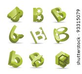 Abstract Symbols Icons Letter ...