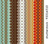Ethnic Pattern Background With...