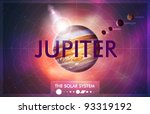 vector solar system   planet... | Shutterstock .eps vector #93319192