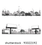 vector illustration.outdoor... | Shutterstock .eps vector #93322192