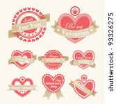 valentine s day labels. vector... | Shutterstock .eps vector #93326275