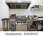 typical kitchen of a restaurant ...   Shutterstock . vector #93329275