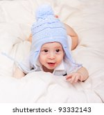 portrait of cute little baby... | Shutterstock . vector #93332143