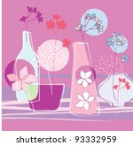 floral greeting card with... | Shutterstock .eps vector #93332959