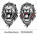 Stock vector isolated tribal lion tattoo vector illustration 93334630