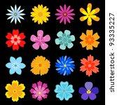 Set Of Flower Blossoms For...