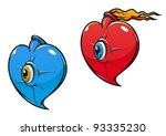 danger heart with eye in...   Shutterstock .eps vector #93335230