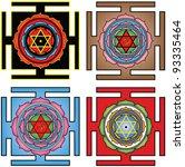 vector images of  Mahamrityunjaya yantra
