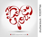 heart formed from i love you... | Shutterstock .eps vector #93339766