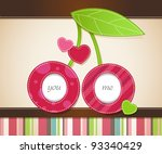 vector card design with two... | Shutterstock .eps vector #93340429