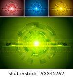 colorful hi tech backgrounds....   Shutterstock .eps vector #93345262