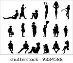 silhouettes | Shutterstock .eps vector #9334588