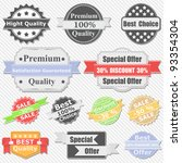 set of premium quality and sale ...   Shutterstock .eps vector #93354304