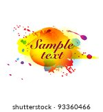colorful ink blots on white | Shutterstock .eps vector #93360466
