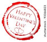 valentine day stamp | Shutterstock .eps vector #93366823