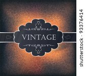 vintage background design for... | Shutterstock .eps vector #93376414