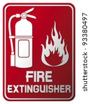 fire extinguisher sign  | Shutterstock .eps vector #93380497