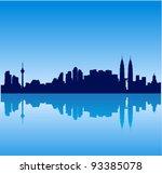 Detailed vector Kuala Lumpur silhouette skyline