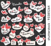 valentine s day card | Shutterstock .eps vector #93385264