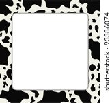 Vector Frame With Abstract Cow...