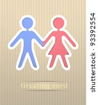people postcard illustration | Shutterstock . vector #93392554
