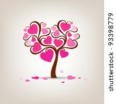 Valentine's Day Tree Pink Hear...