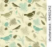 Seamless Pattern With Bird