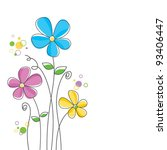 vector flower background | Shutterstock .eps vector #93406447