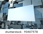 a colorful cubes abstract... | Shutterstock . vector #93407578