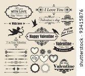 valentine s day vintage design... | Shutterstock .eps vector #93415876